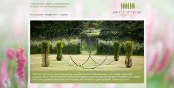 James Hutchison Garden Design website screenshot