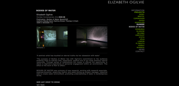 Elizabeth Ogilvie website screenshot