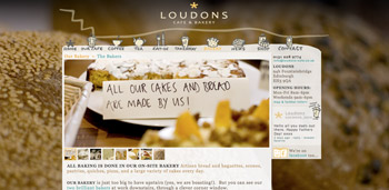 Loudons Cafe & Bakery website screenshot