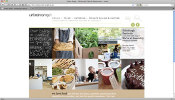 Urbanangel - cafes & catering website screenshot